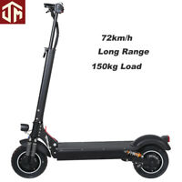 "Foldable Top Speed Electric Scooters Adult Dual Motor Powered Scooter 10"" 72km/h"