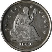 1840-O Seated Liberty Quarter Nice XF Details No Drapery Nice Eye Appeal