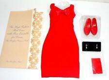 "Franklin Mint Princess Diana High Fashion Red Bow Dress Ensemble fits 16"" Doll"