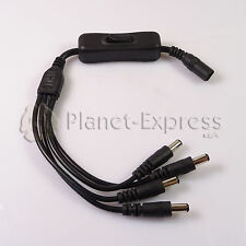 Conector cable Jack DC 4 conectores macho + 1 hembra Interruptor Tira led CCTV