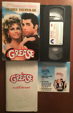 GREASE 20th Anniversary Edition (VHS, CD, 1998) Includes Final Script Booklet