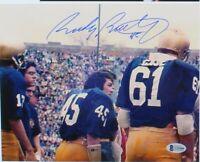 Rudy Ruettiger signed Notre Dame Fighting Irish 8x10 Photo (Beckett COA)