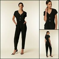 Wallis Jumpsuit Size 8 | Black Button Top Style | BNWT | £40 RRP | Brand New!
