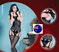 Foreplay Fish NET Sexy Open crotch breast Night Lingerie Bodysuit Body Stockings
