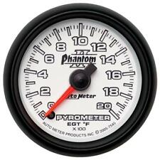 "Auto Meter Boost/Pyrometer Gauge 7545; Phantom II Kit 2000°F 2-1/16"" Electrical"