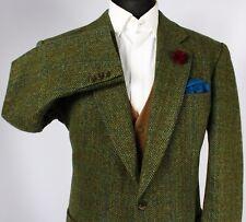 Burberry Tweed Blazer Jacket Green Windowpane 44S WOOL & ALPACA 194