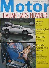 Motor magazine 10/7/1971 featuring Ferrari Dino road test, Lamborghini Jarama