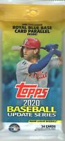 1-2020 TOPPS UPDATE SERIES BASEBALL AUTO/RELIC/1/1/ PLATE/PATCH? JUMBO HOT PACK