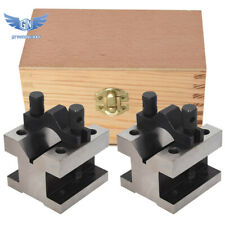 1 Set Multi Use Gauge Gage Machinist Tool 2 38 X 2 38 X 2 Inch V Block Amp Clamp