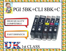 5  PGI-5BK CLI-8 COMPATIBLE Ink Cartridges for canon printer CHIPPED NONORIGINAL