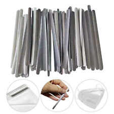 50x Hot-melt Metal Nose Bridge Strips for Face Cover Aluminum Flat Nose Wire UK