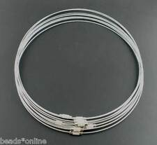 """10Pcs Steel Wire Choker Necklaces Clasp Screw 18"""""""