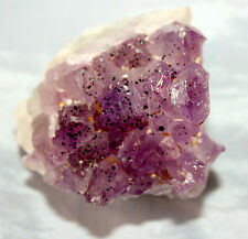 Amethyst Part Geode Crystal Cluster Bed, W/ Inclusions, To Charge Crystals On