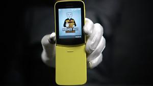 Nokia 8110 4G 4GB Phone Yellow - 'The Masked Man'