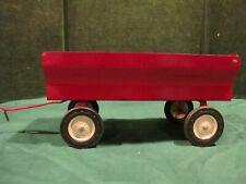 "Vintage ERTL Pressed Metal Red Farm Wagon Trailer large 10"""