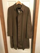 Original Mens Lined full Lenght London Fog Executive Rain Jacket