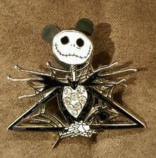 Disney Nightmare Jack Skellington Rhinestone Jeweled Jewelry Pin