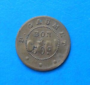 93 95 Garges-lès-Gonesse Fort de Stains 50 centimes cantine P. Gaumet INEDIT