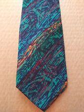 Vintage Jerry Garcia 100% Silk Tie - Multi-Color Design - Good Condition