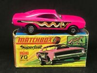 Matchbox MB70b Dodge Dragster *rare pink base w Type H Box