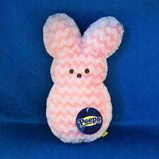 Peeps - Bunny - Light Pink Chevron -  9 Inch Plush - Easter - NEW