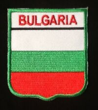 BULGARIA BULGARIAN NATIONAL COUNTRY FLAG BADGE IRON SEW ON PATCH CREST