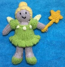 KNITTING PATTERN - Tinkerbell inspired Doll with Removable Clothes 15 cms toy