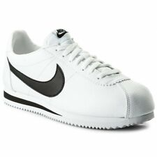 NIKE CLASSIC CORTEZ LEATHER Men's Black/White Sneakers 749571-100