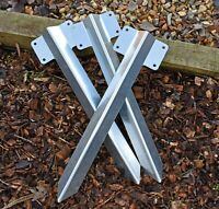 Railway Sleeper Bracket Steel for Driveway Path Edging Fix Many Sizes Available