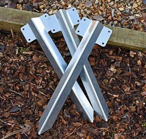10 x Railway Sleeper Bracket Steel for Driveway Path Edging Fix Many Sizes