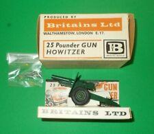 BRITAINS BOXED & DISPLAY CARD & SHELLS VINTAGE No.9705 HOWITZER 25 POUNDER GUN