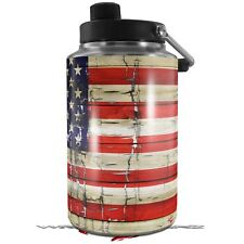 Skin Wrap for Yeti 1 Gallon Jug Painted Faded Cracked Usa American Flag