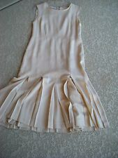 Authentic CHANEL Classic Pleated Dress Made In France Size 42 $1995