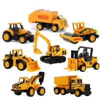 1Pcs Mini Alloy Vehicle Models Tractor Excavator Dump Truck Kids Educational Toy