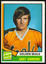 1974-75 OPC O PEE CHEE HOCKEY #371 GARY SIMMONS RC NM CALIFORNIA GOLDEN SEALS
