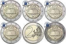 Germania 2 euro trattati di Roma Set 2007 MZZ. a, D, F, G. J nel münzstreifen