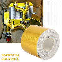 9M Aluminium Foil Adhesive Reflective Tape Heat insulating Wrap for exhaust pipe