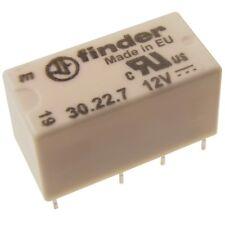 Finder 30.22.7.012 Dual-In-Line Relais 12V DC 2xUM 2A 125V AC Relay Print 069563