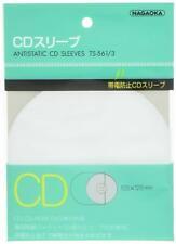 Nagaoka AntiStatic Inner CD Sleeves 1 pack 20 sheets TS-561/3 From Japan