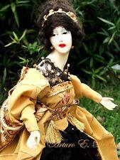 Antique Estate WAX Half A Doll Lamp Shade Working Con Artist Handmade Dress