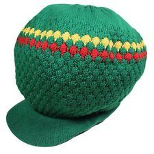 Rasta Green Hat Reggae Dubwise Dread Cap Babylon Jamaica Selassie Marley M/L Fit