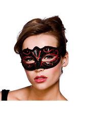 Adult Verona Eyemask Red Glitter Outfit Fancy Dress Halloween Masquerade Ball