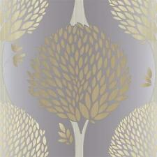 G56378 - Tempo Trees Gold & Grey Galerie Wallpaper