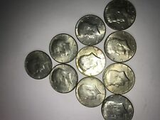 $5 Face Value Uncirculated/circulated 40% Silver Kennedy Half Dollars 1965-1970
