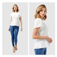 FOREVER NEW | Womens Lisa Flutter Sleeve Essential Top [ Size AU 10 or US 6  ]