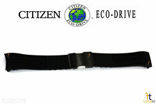 Citizen Eco-Drive Navihawk S087881 Black Rubber Watch Band Strap S088003