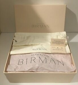 "Alexandre Birman Shoe Box Beige with Satin Bag & Branded Tissue,12"" x 9.5"" x4.5"""