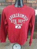 Vintage Abercrombie & Fitch Red Crewneck Sweatshirt Distressed Mens Size Small