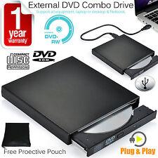 USB 2.0 SLIM External Portable DVD / CD RW COMBO DRIVE Bruciatore per netbook, PC, MAC