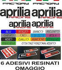 KIT 16 ADESIVI APRILIA RACING FACTORY + 6 APRILIA RESINATI MOTO STICKERS COD18